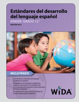 Estándares del desarrollo del lenguaje español de WIDA