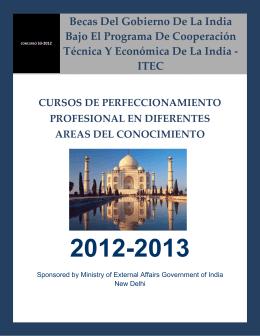 Becas Del Gobierno De La India Bajo El Programa De Cooperación
