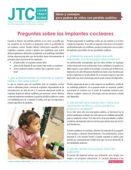 Preguntas sobre los implantes cocleares