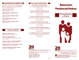 Educación Positiva de Padres - Township High School District 211