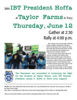 at Taylor Farmsin Tracy Thursday, June 12