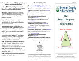 RtI: Una Guía para los Padres RtI