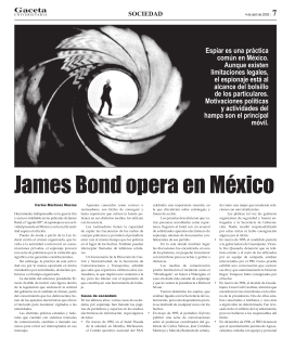 James Bond opera en México - La gaceta de la Universidad de