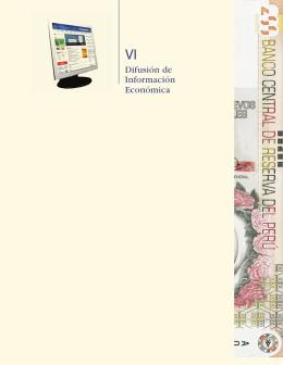 VI. Difusión de información económica