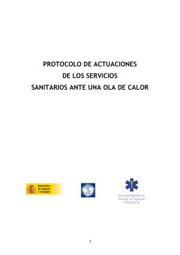 protocolo de actuaciones de los servicios sanitarios ante una ola de