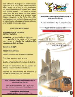 14° Folleto - Proyecto Metro