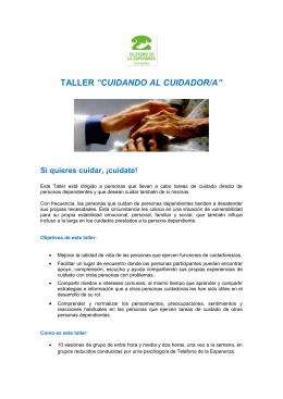 folleto + ficha inscripción taller cuidando al cuidador