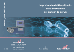 genomica folleto genotipado cancer cervix 2008-2.cdr