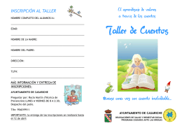 folleto taller de cuentos