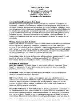 Elementary Disclosure Document Grade Level -