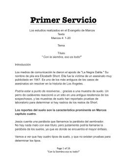 Marcos, Primer servicio 11-08-15