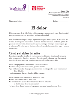El dolor - Phoenix Children`s Hospital