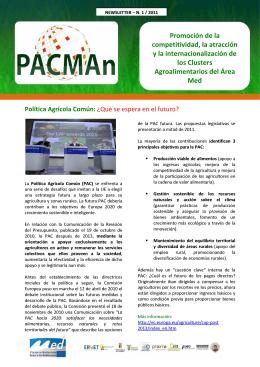 Promoción de la competitividad, la atracción y la - PACMAn