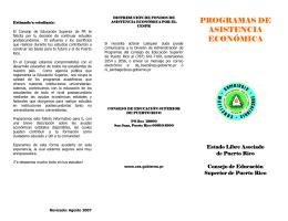 PROGRAMAS DE ASISTENCIA ECONÓMICA