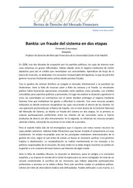Bankia: un fraude del sistema en dos etapas