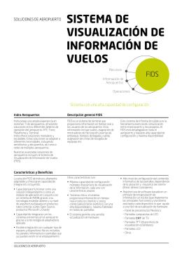 sistema de visualización de información de vuelos