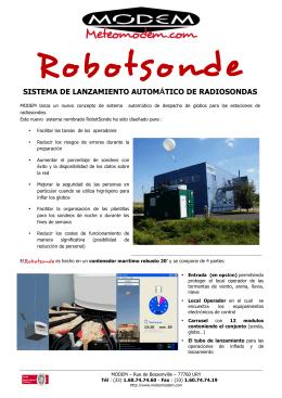 SISTEMA DE LANZAMIENTO AUTOMÁTICO DE RADIOSONDAS