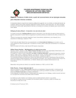 COLEGIO AGUSTINIANO CIUDAD SALITRE JORNADA DE