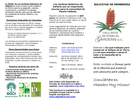 Come Watch Us Grow - Vallarta Botanical Gardens