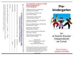 Pre- kindergarten