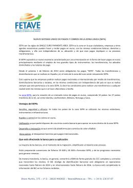 Nuevo sistema unico de pagos y cobros en la zona unica (SEPA)