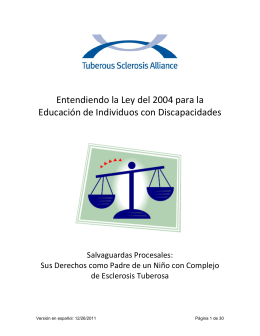 Entendiendo la Ley para la Educación de Individuos con