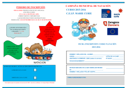 Folleto Inscripcion Natacion Municipal 2015-2016