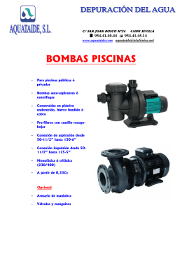 FOLLETO BOMBA PISCINA