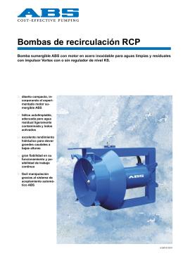 Bombas de recirculación RCP