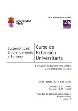 Sostenibilidad: Emprendimiento y Turismo