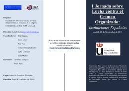 I Jornada sobre Lucha contra el Crimen Organizado: