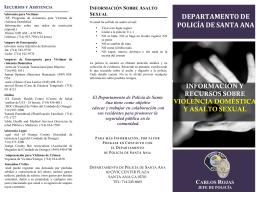 Información y Recursos sobre violencia Doméstica y Asalto Sexual