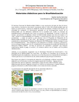27. Noelia Garita Sánchez, INBioparque, Materiales Educativos