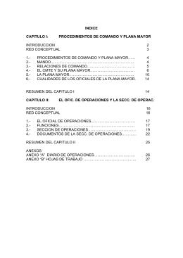 indice capitulo i: procedimientos de comando y plana mayor