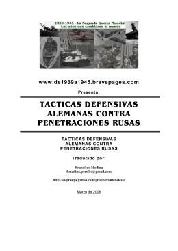 tacticas defensivas alemanas contra penetraciones rusas - 1939-1945