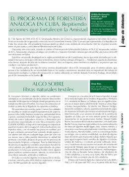 El Programa de Forestería Análoga en Cuba - Algo sobre