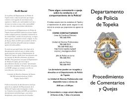 Spanish Complaint Brochure 2011.pub