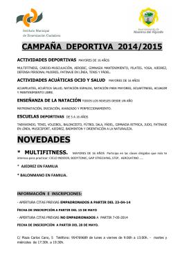 FOLLETO CAMPAÑA 2014-2015 - Ayuntamiento de Mairena del