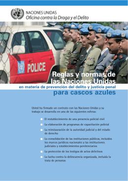 las Naciones Unidas para cascos azules Reglas y normas de