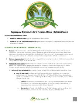 1 Reglas para América del Norte (Canadá, México y Estados Unidos)