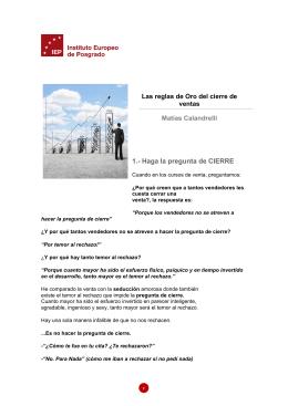 Las reglas de Oro del cierre de ventas Matías Calandrelli 1.