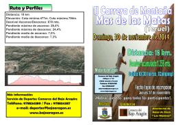 Folleto Carrera de Montaña Mas 2014