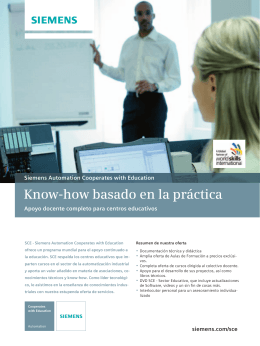 Know-how basado en la práctica