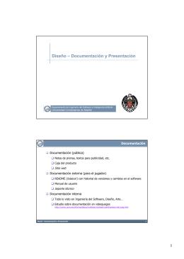 Diseño – Documentación y Presentación