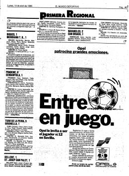 PRIMERA REG!ONÁL - Mundo Deportivo