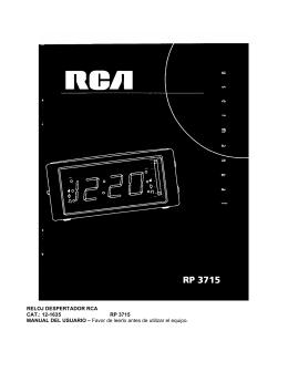 RELOJ DESPERTADOR RCA CAT.: 12-1635 RP