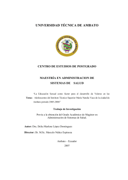 CAPITULO I - Repositorio Universidad Técnica de Ambato