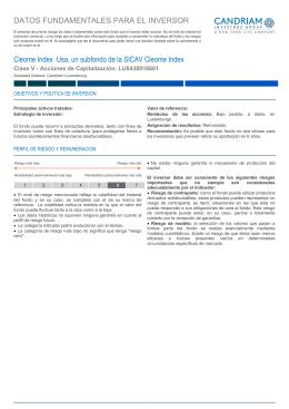 Key Investor Information: LU0438016601