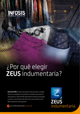 ¿Por qué elegir ZEUSindumentaria?