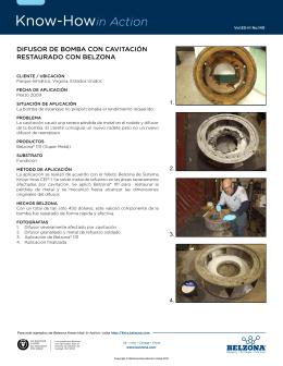 difusor de BoMBa con cavitación restaurado con Belzona